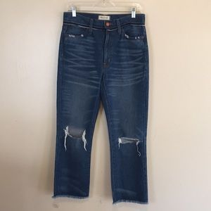 NWT Madewell Retro Crop Bootcut Jeans
